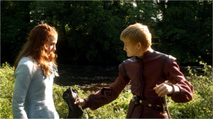 Joffrey Baratheon and Sansa Stark