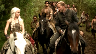 Daenerys and Jorah on Horseback